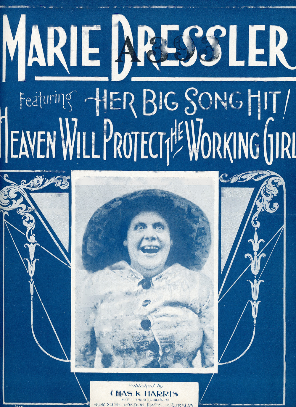 """Heaven Will Protect the Working Girl"" Music and Lyrics From the Stage Production  Tillie's Nightmare     Sheet Music 1910 Marie Dressler Foundation Collection"