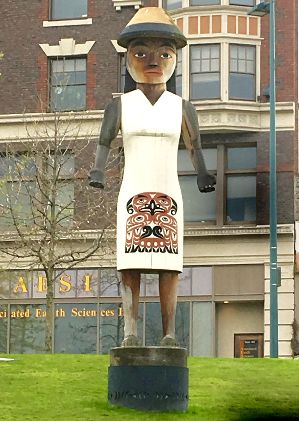 Welcome Figure from the Puyallup tribe