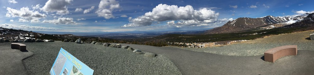 From the top of Flat Top. The city in valley.