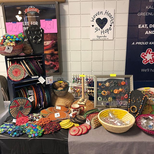 "Come get all your Christmas shopping done in one place! Give a gift that gives back! We're are the ""Wing's Event Center"" from 9-5 today and 9-4 tomorrow. #christmasshopping #onestopchristmasshopping #giftthatgivesback #christmasatwingsartscraftsfair #handmade #wovenheartsofhope"