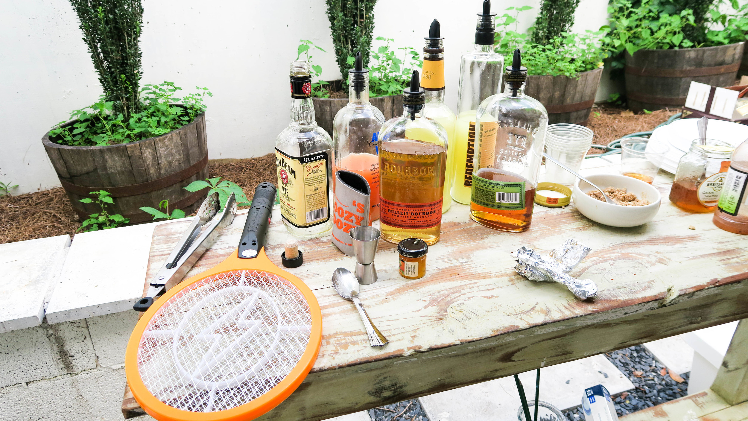 All you need at a bbq.. is a bug zapper.