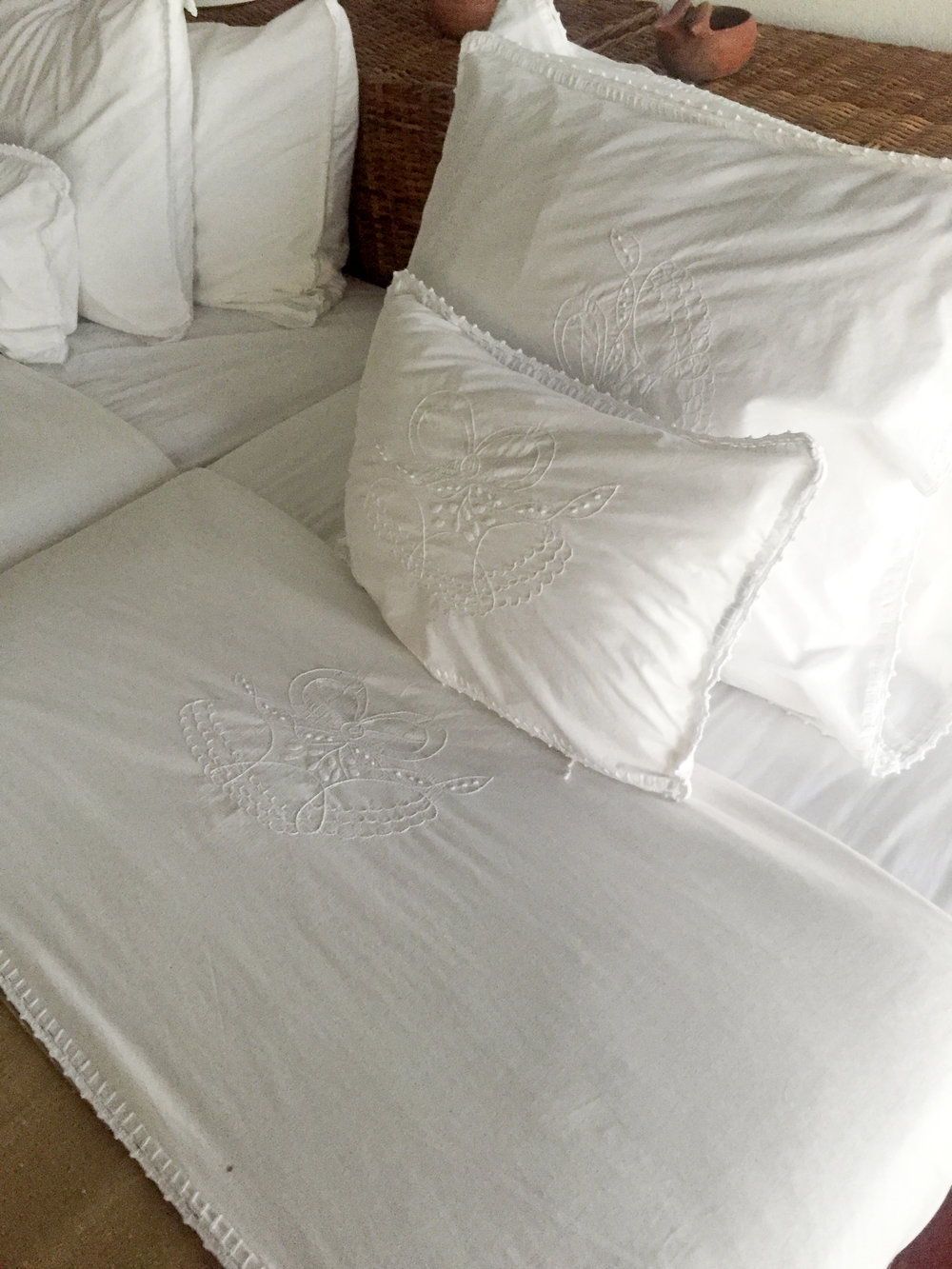 Beautiful detail on bed linens