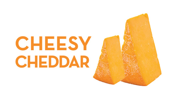 CHEESY CHEDDAR:   Bags: $4.75, $5.50, $8.50  Tins: $7.50, $16, $32   Tin Refills: $3.50, $6, $18   Party Bags:  $37