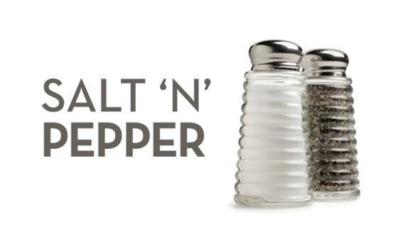 SALT N PEPPER: Bags:$4.75, $5.50, $8.50 Tins: $7.50, $16, $32    Tin Refills:$3.50, $6, $18  Party Bags: $37