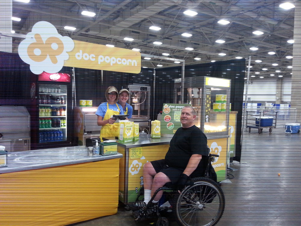 Doc Popcorn at the Wheelchair Games