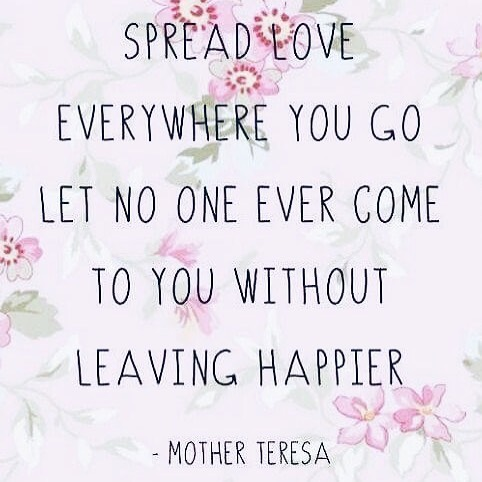 Can't beat a good Mother Teresa quote on a Tuesday evening. Seriously though, I do love this! Always choose kind, spread the love 💕 #lifegoals #smile #happy # #inspiringconfidence 📷 via Pinterest