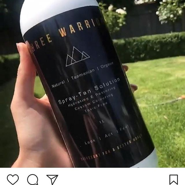 We all want a beautiful, natural looking, hydrating spray tan. I love certified organic, toxic free Three Warriors @honey_wax_and_tan @threewarriors #spraytan #spraytanning #northcote #organicspraytan #honeywaxandtan #natural #organic #organictan #organictanningsolution