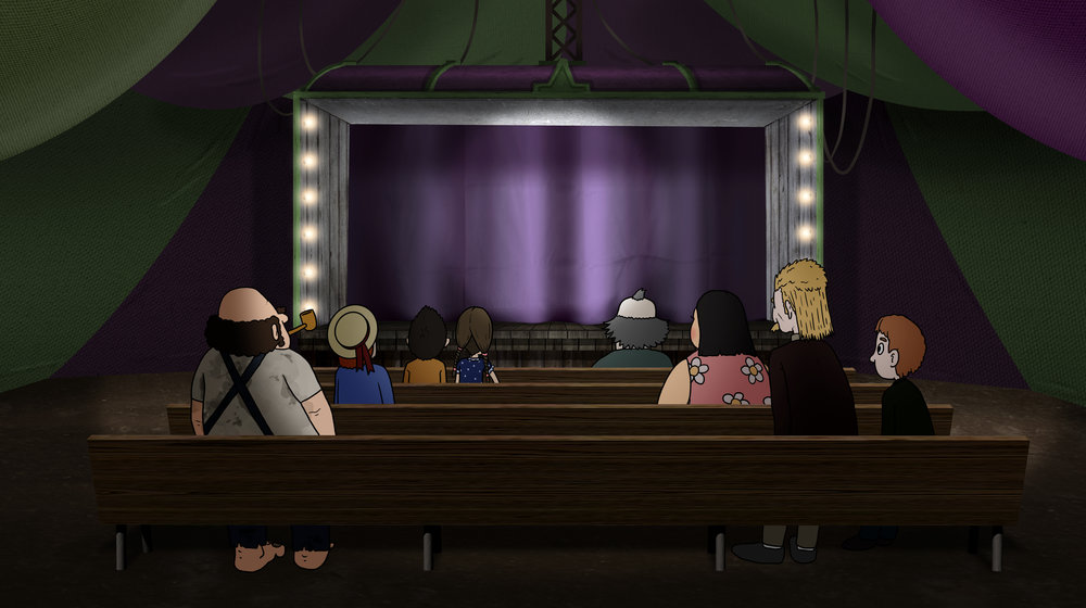 Magic Show - This is a scene design for an animated film.
