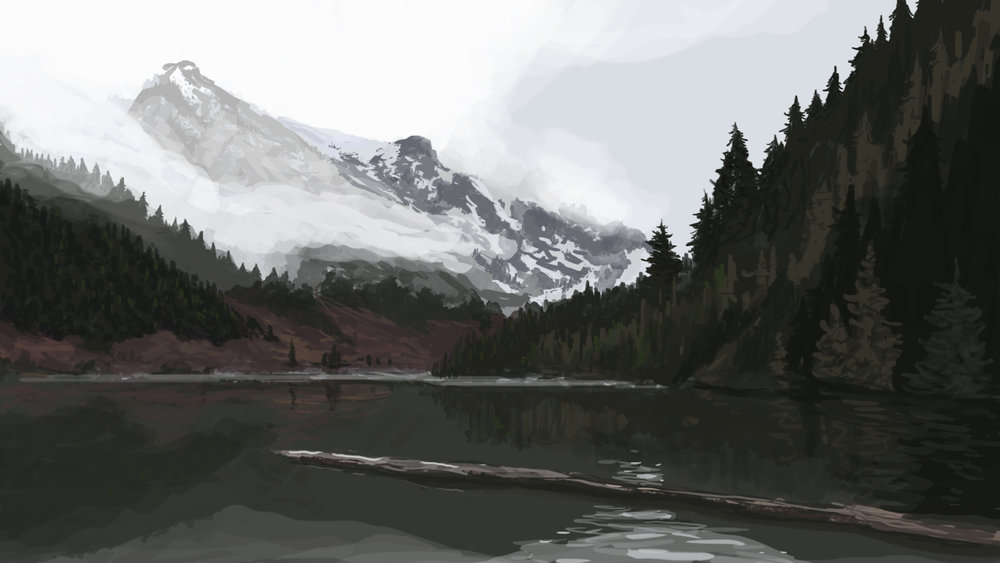 "Digital Painting - this was a digital speed painting I made for a ""mood study"" to be used in some concept art."