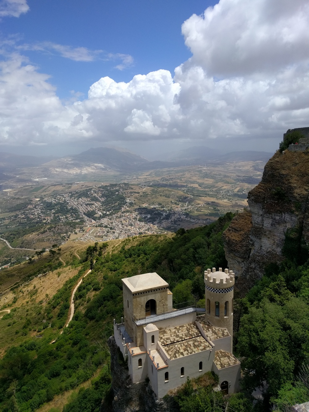 The view from Erice in Western Sicily
