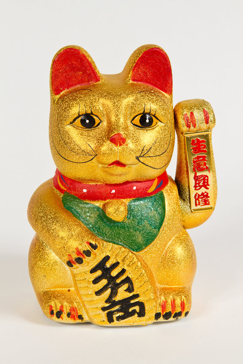 The Chinese cat, which they had here, is apparently the guardian of all nail salons everywhere...