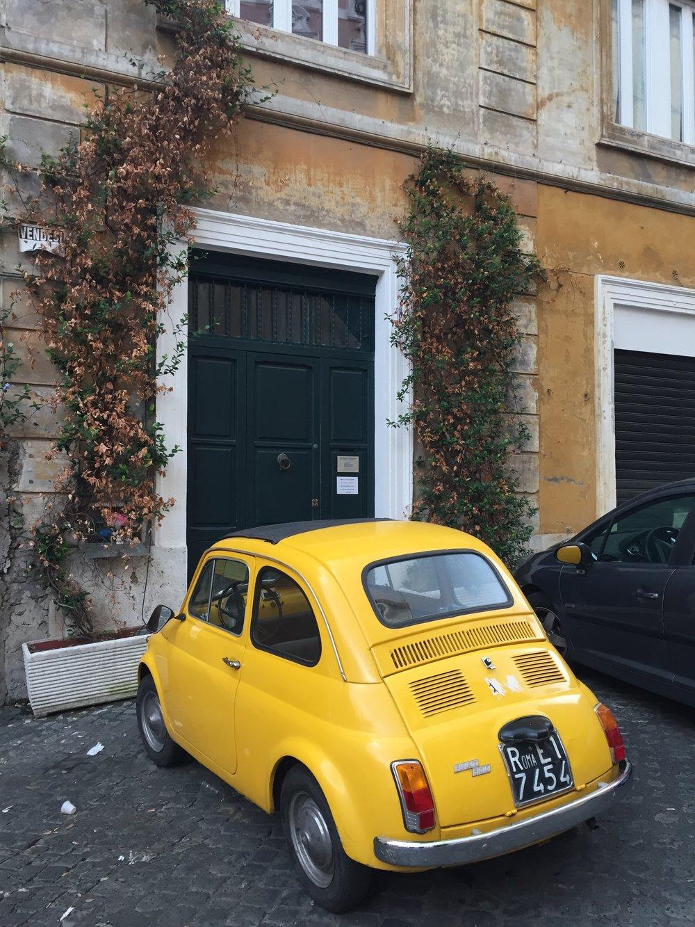 Fiat 500 in Rome.