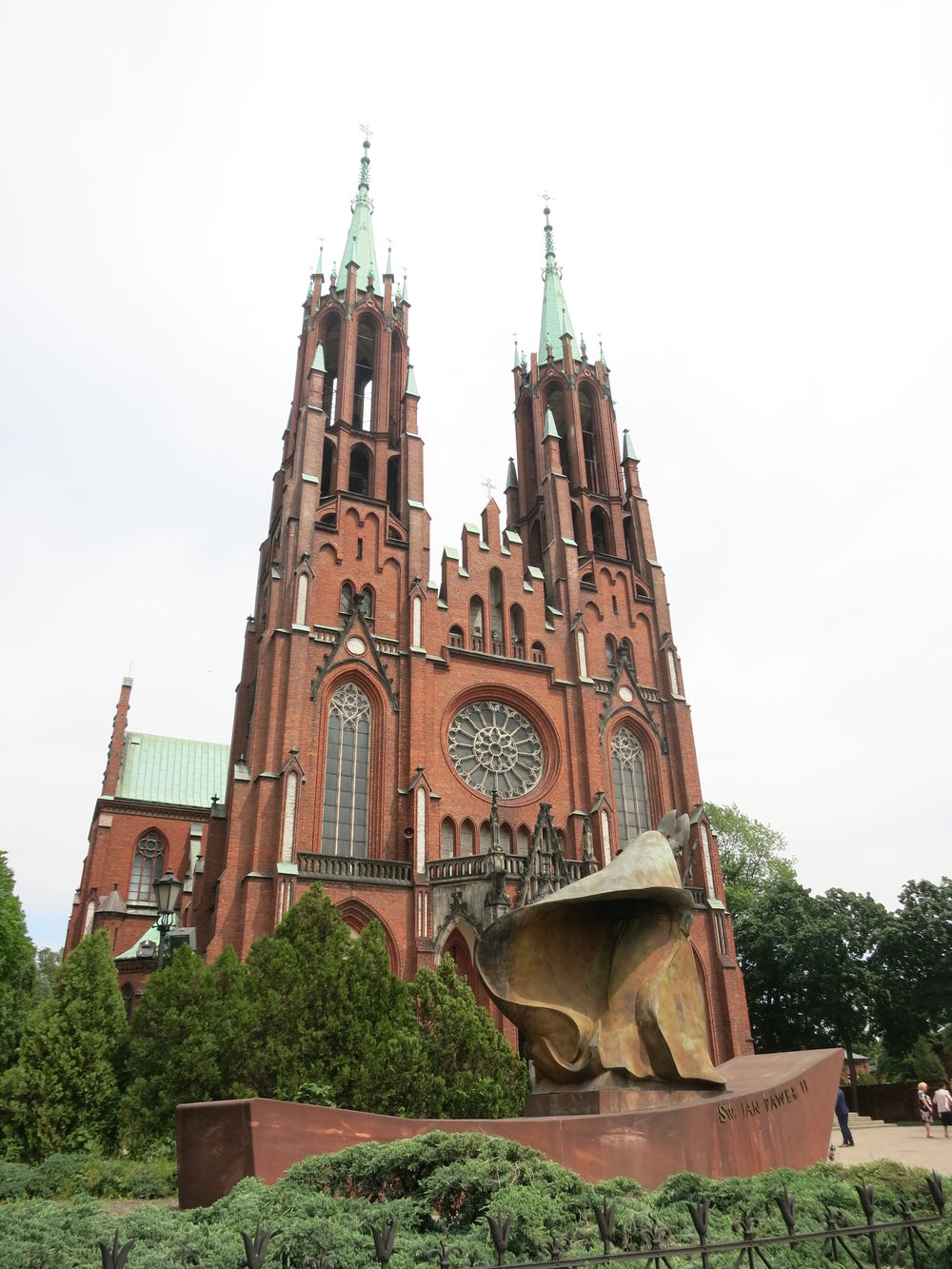 The cathedral was modeled after the one in Cologne, Germany.