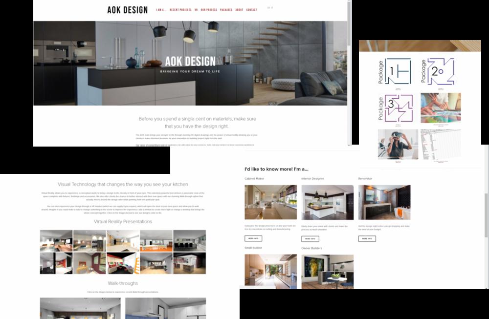 AOK Design website