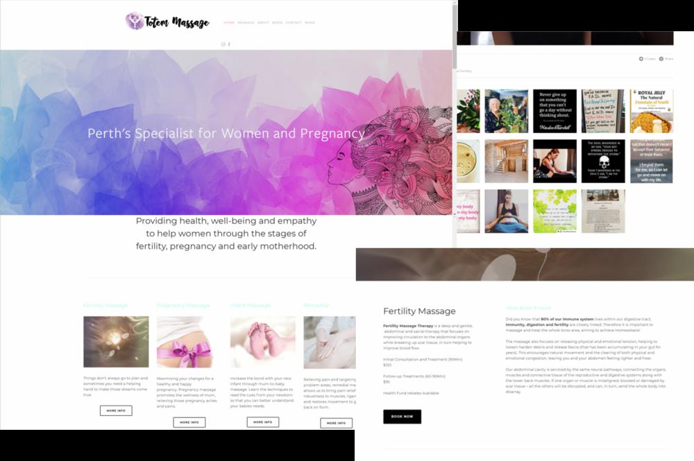Totem Massage squarespace site