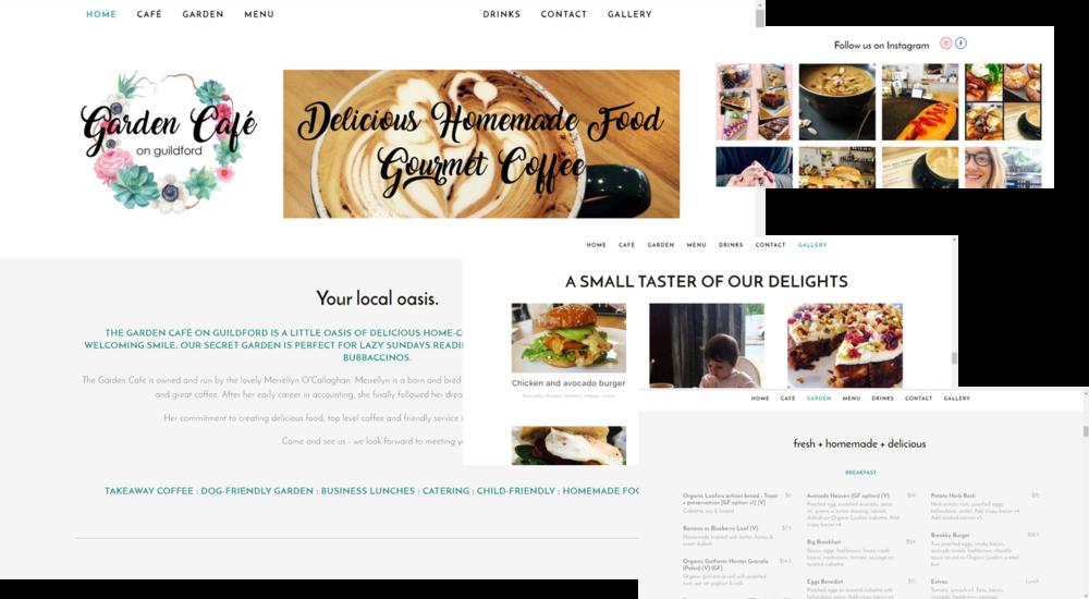 Garden Cafe website