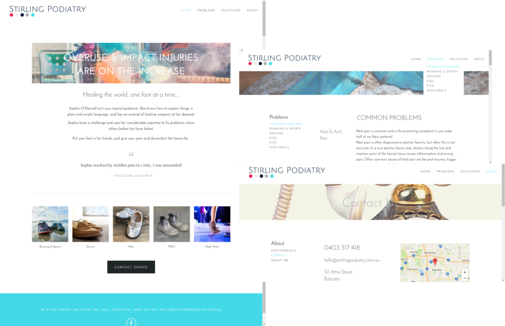 Stirling Podiatry website