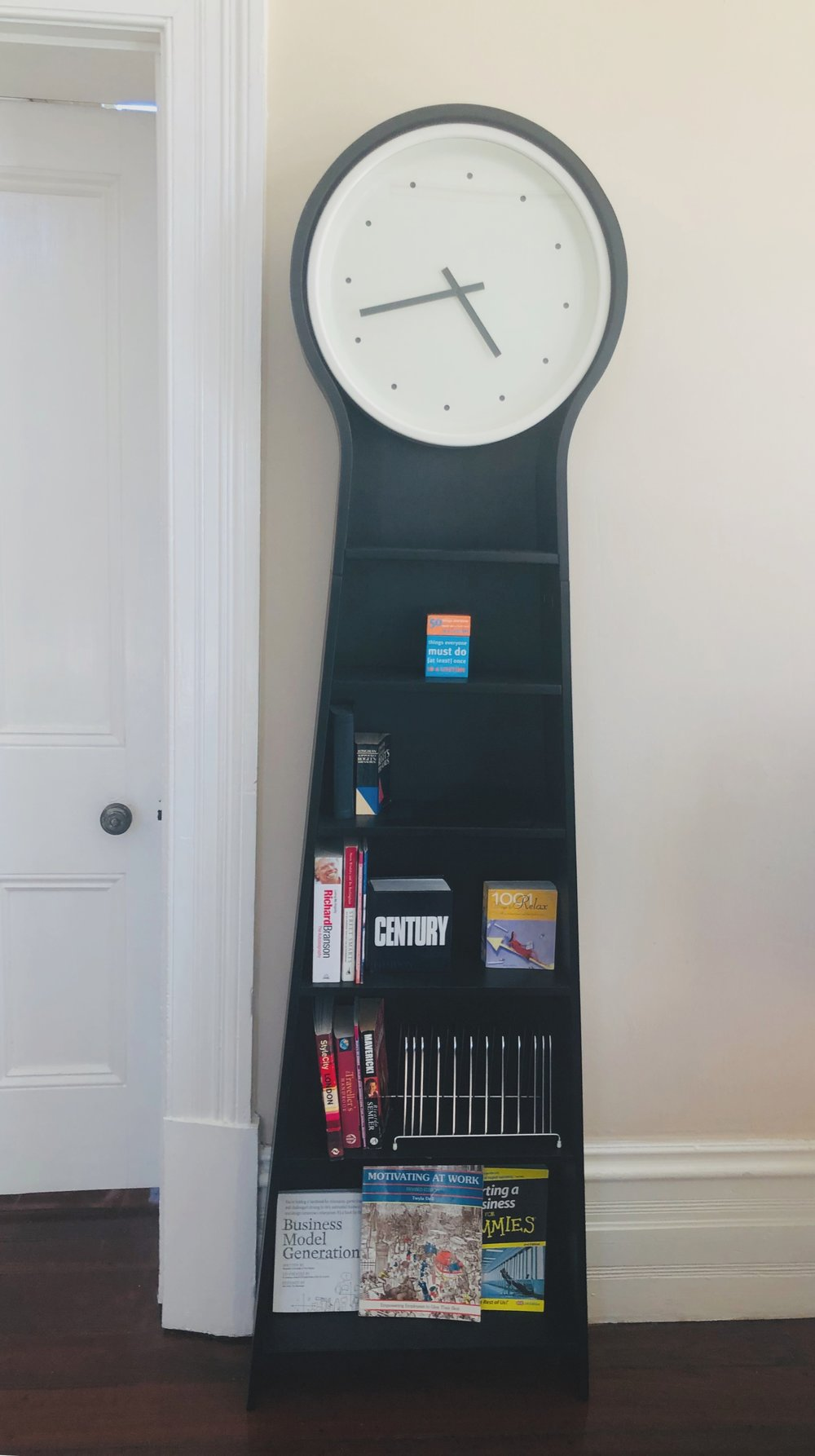Clock in the co-working space