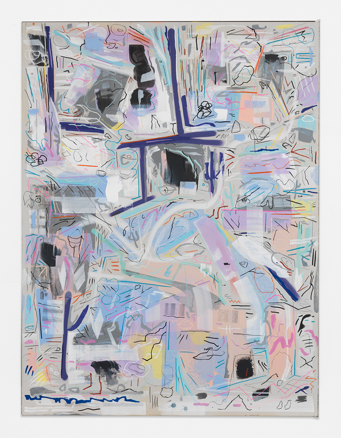 "Big Man Small House,  2016 Mixed media on sheetrock panel 48 x 36"" (121.9 x 91.4 cm)"