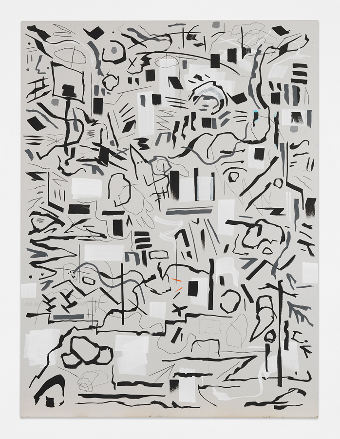 "Bone Yard,  2016 Mixed media on sheetrock panel 48 x 36"" (121.9 x 91.4 cm)"