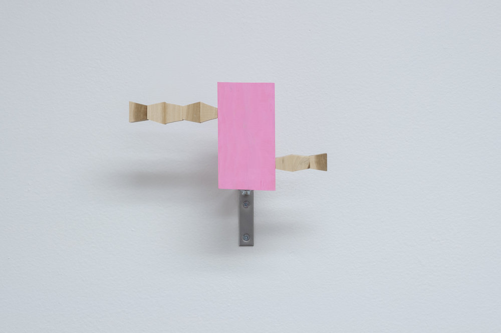 "Truncated Endless Column Viewer,  2014; Acrylic on pine, corner braces; 7 x 9"" x 4.5"""