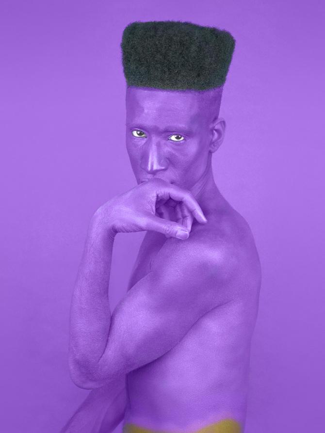 "Jon Key, Queer (Violet), 2016, Giclée Print, 18"" x 24"" Ed 1/5"