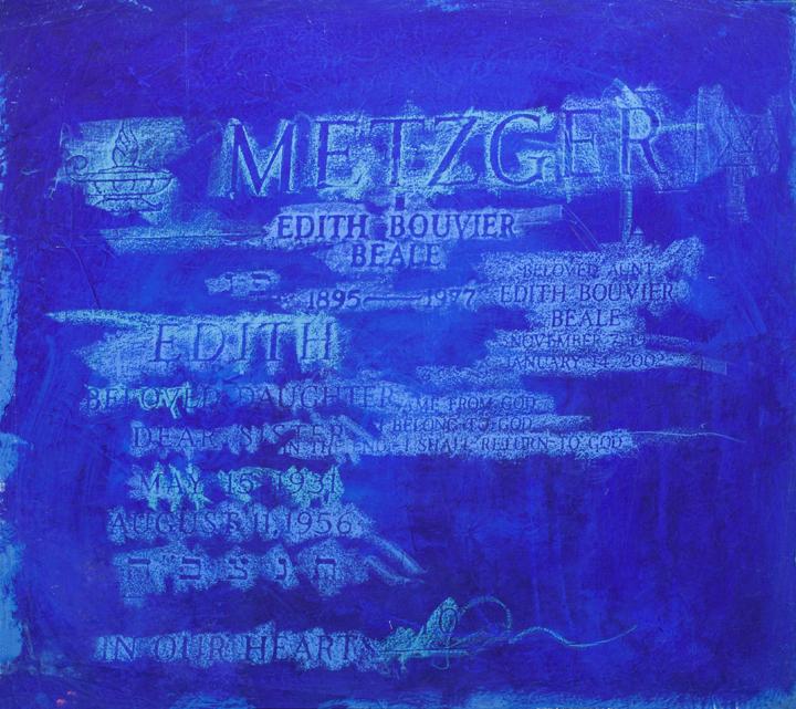 "The Three Edies of East Hampton  n.d,acrylic and oilstick on canvas,30 x 30"""