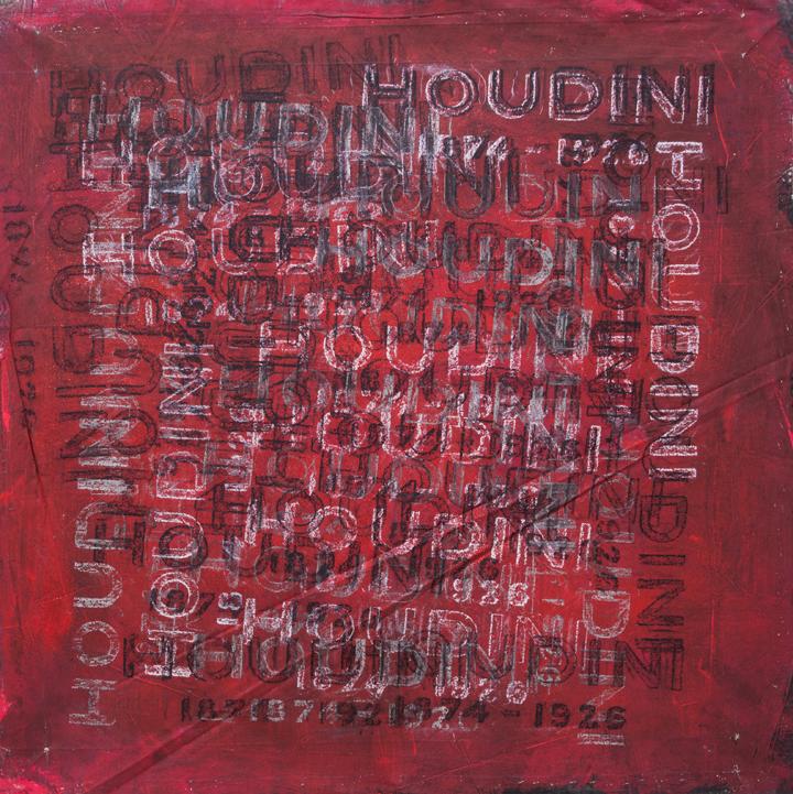 """Houdini  n.d,acrylic and oilstick on canvas,36 x 36"""""""