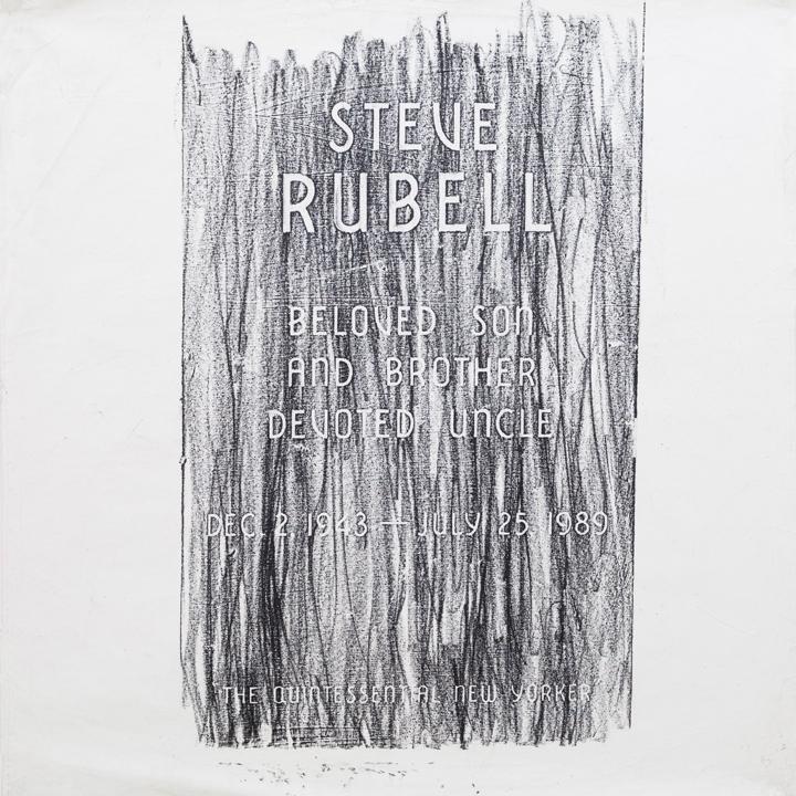 "Steve Rubell  n.d,acrylic and oilstick on canvas,36 x 36"""