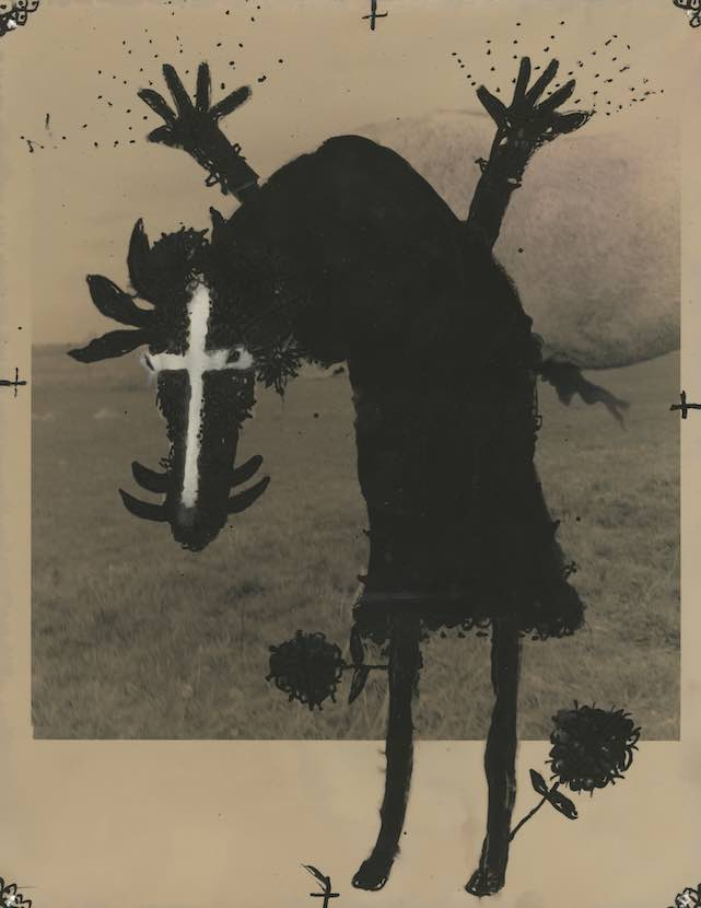 A Childhood Nightmare, 2010 Silver gelatin print with photographic inks 14 x 11""