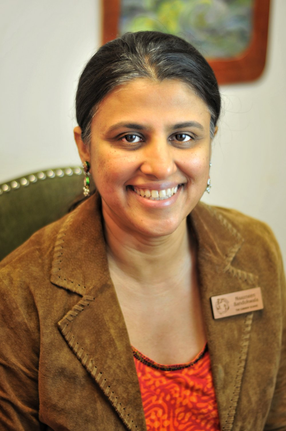 Naazneen Bandukwala   With a background in education, school psychology, research, and child development, Naazneen brings a broad expertise to our administrative team. She enjoys sharing the great outdoors with her two daughters.
