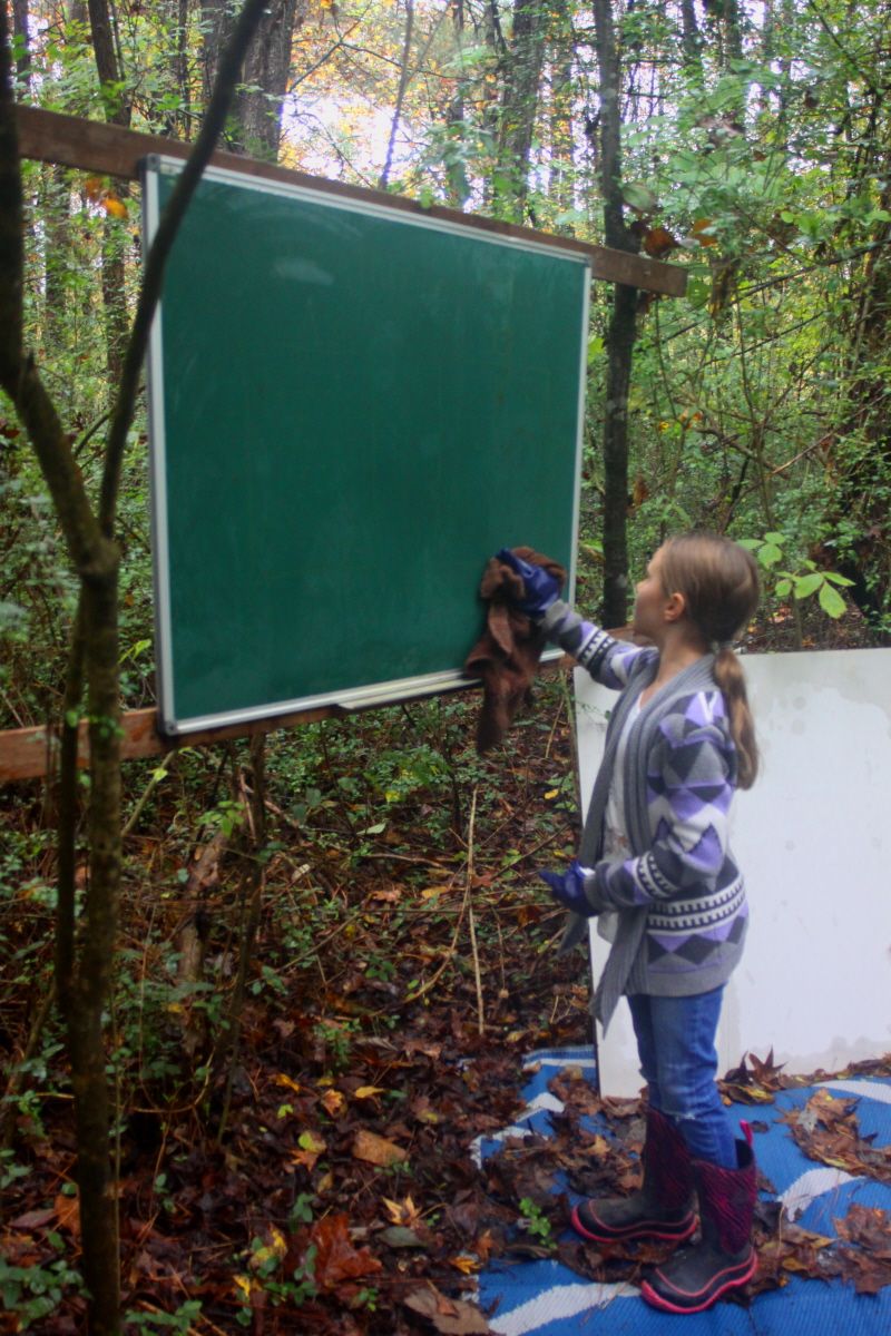 Cleaning the chalkboard at Privet Pocket email.jpg