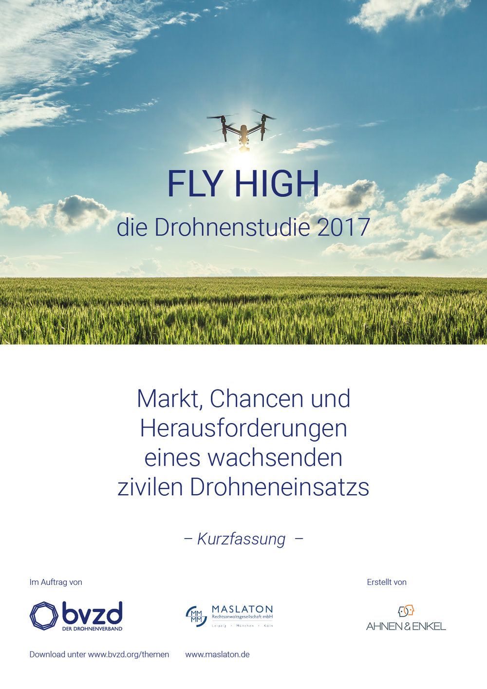 Studie Fly High, Cover