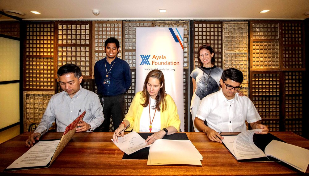 May 23, 2018 | Signing the partnership agreement at the Ayala Foundation Inc. head office.