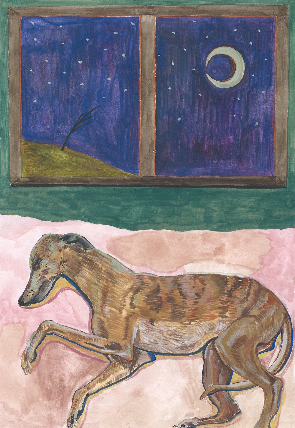 Sleeping Greyhound  by James Owens