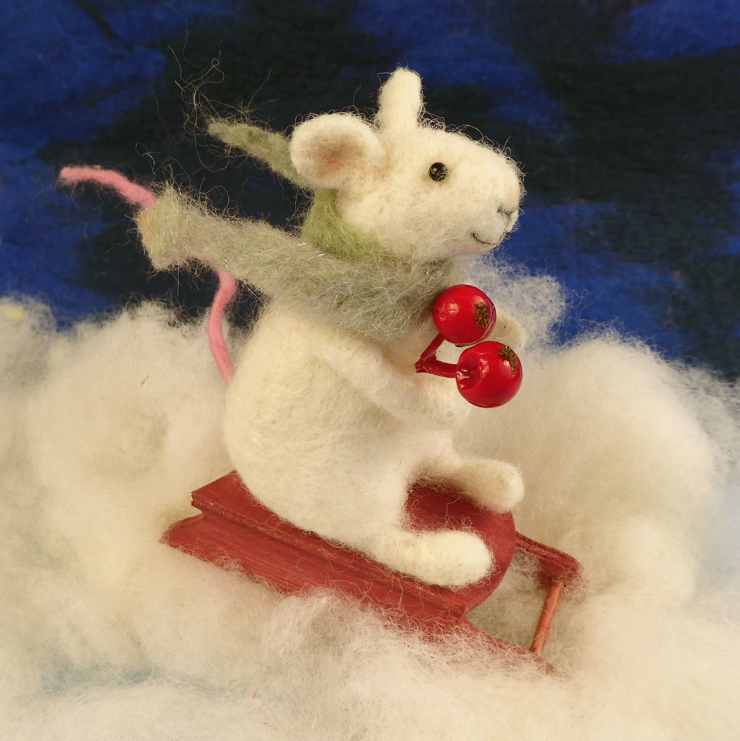 Christmas Mouse.Needle Felt A Christmas Mouse With The Woolly Felters