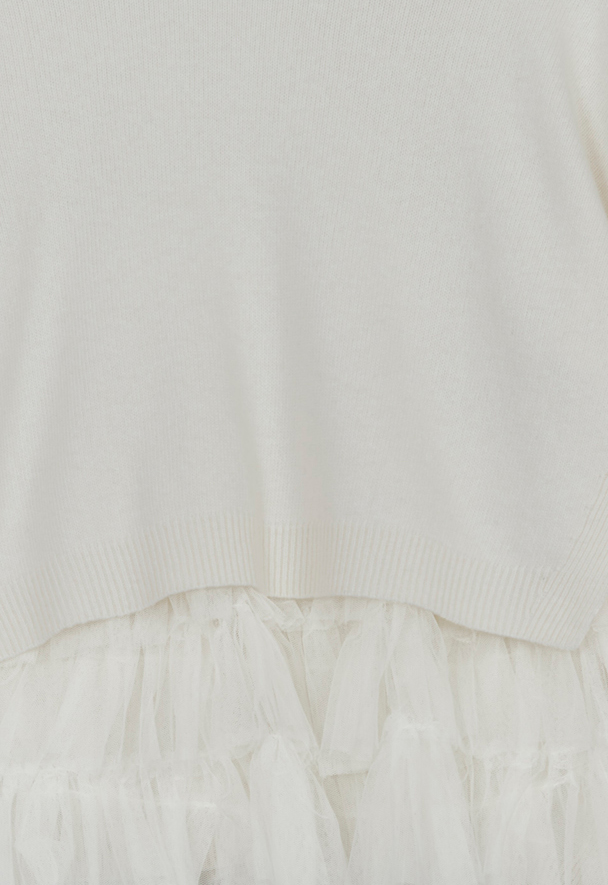 in.no Edition 2.0 knit white tulle jumper