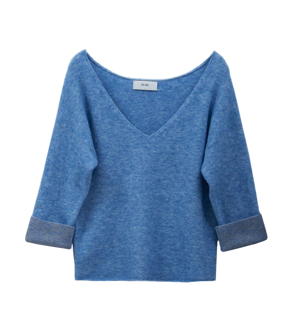 in.no Edition 1.0 blue v neck jumper