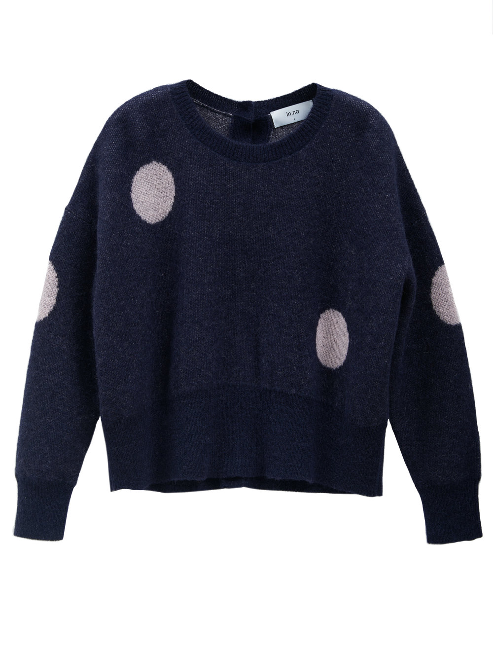 in.no Edition 1.0 navy pink dot jumper