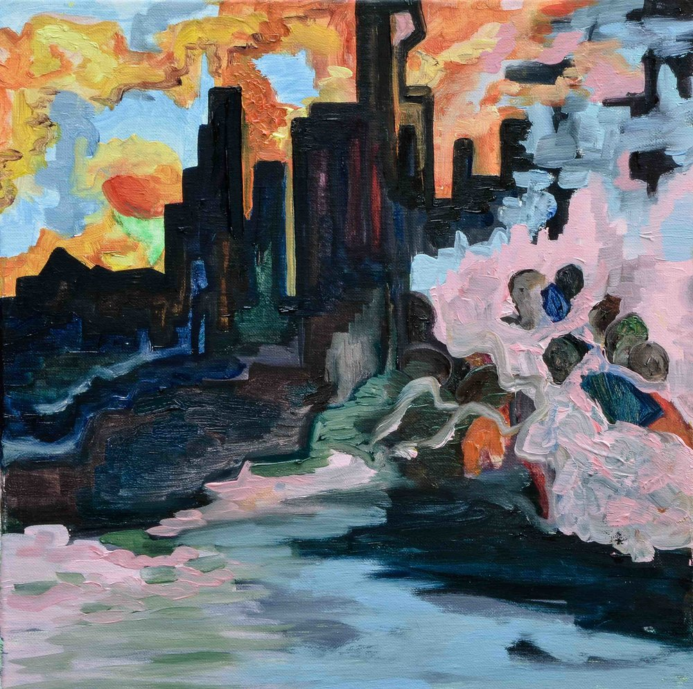 Palermo Hollywood - Oil on Canvas - 40x40cm