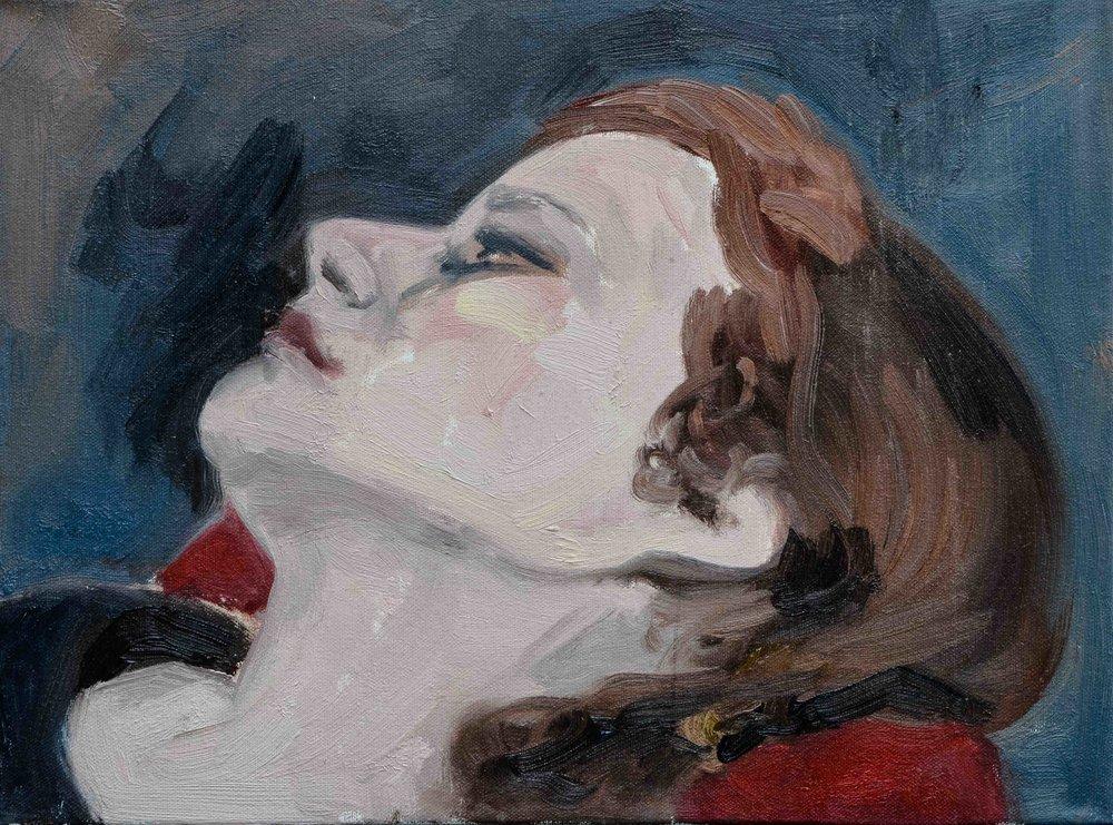 Portrait study- Oil on canvas -