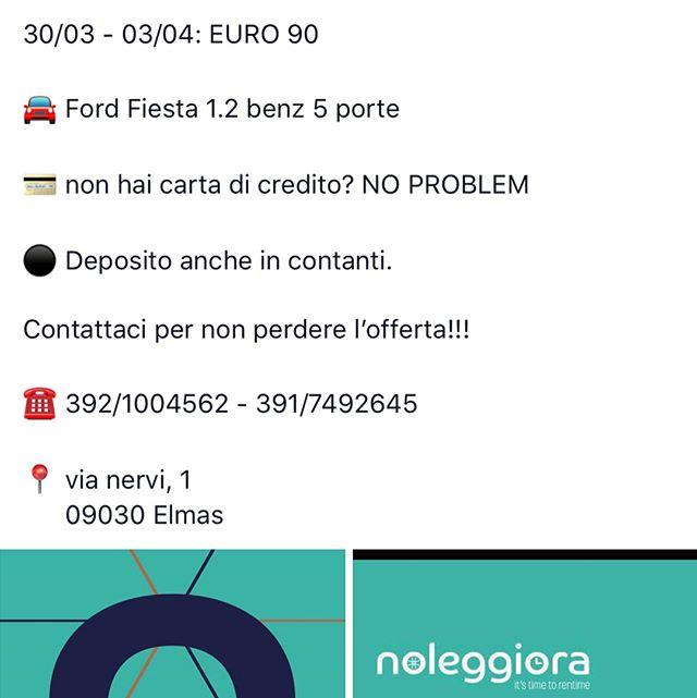 OFFERTA PASQUA!!☀️ NON LASCIATEVELA SCAPPARE!! ☎️ 392/1004562 #rentcar #noleggioauto #noleggioautocagliari #rentals #cagliari #pasqua2018
