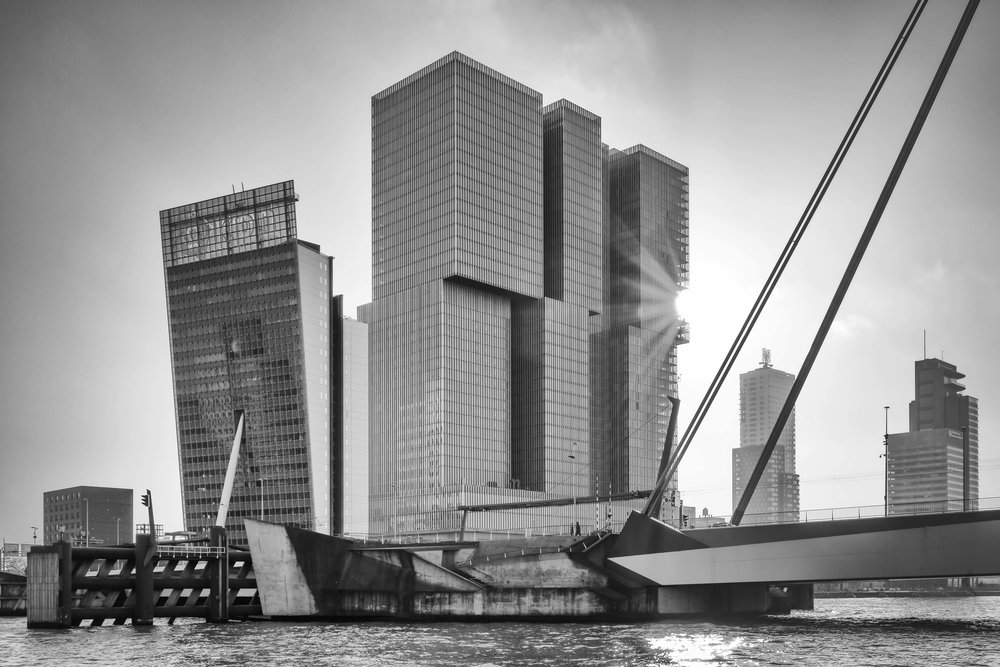 Sunset Wilhelminapier Rotterdam
