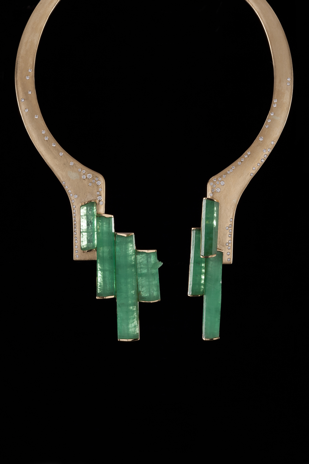 Yunnan emerald crystal necklace