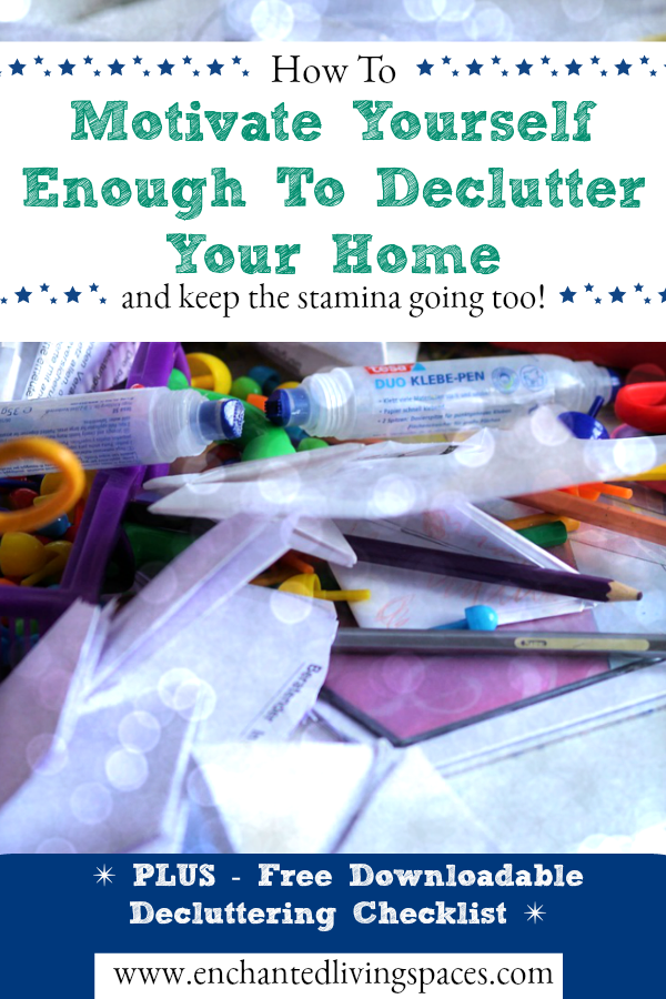 how to find motivation to declutter your house