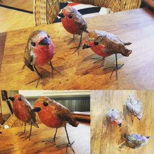Ceramic Robins by Gail Dooley