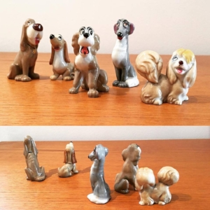 Ceramic Wade, Lady & The Tramp figurines