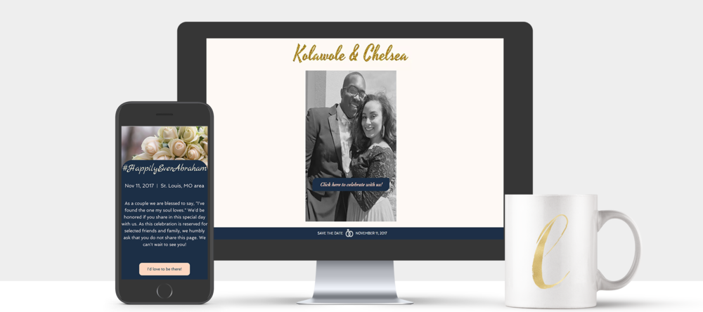 When time permits, I love to design digital wedding assets as well!