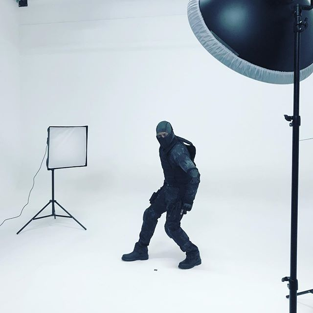 Ninja in the studio today! #neostock #ninja #margatephotography #margate #photographystudio