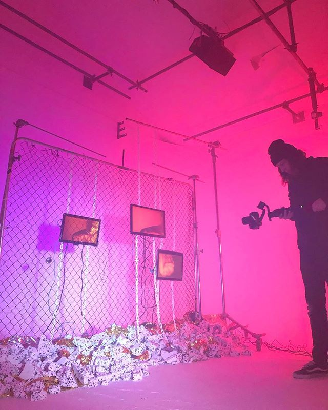 @babii___babii filming her music video @fireeyeland ! #musicvideo #fireeyeland #margate #creatives #photography #photographystudio
